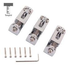 Tooyful 3Pcs Solo Single Guitar Bridge w/ Wrench Screw for 3/4/5/6/7/8 String Guitar Cigar Box Banjo Parts