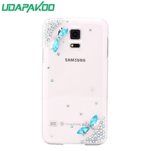 HOT 3D Luxury Bling Crystal Diamond Hard DIY Case for Samsung Galaxy S5 Active/S1 i9000/Note 1 N7000/S3 i9300/i8160(China)