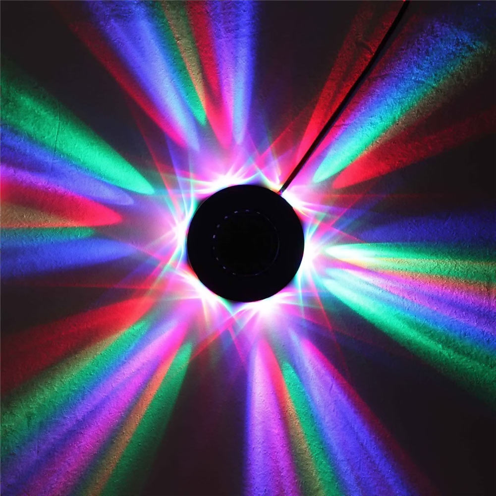 8W 90-240V Micro Rotating RGB Light 48 LED sound activated Sunflower led lighting Stage Light  for KTV DJ Party Wedding<br><br>Aliexpress
