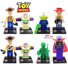 8pcs star wars super heroes SY172 Toy Story Buzz Lightyear Woody building blocks model bricks toys for children juguetes(China)