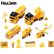 1 Set Construction Vehicle Excavator Truck Project Bus Aircraft Motorcycle Pull Back Force Toy Children Birthday Christmas Gift(China)