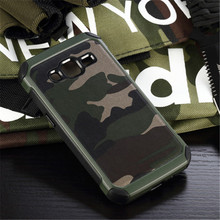 Win 2 Duos Camouflage Armor Case Shockproof Cover For Samsung Galaxy Core Prime G360F G36H G361h Hybrid Cover Free Film