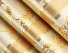 Italian Style Modern Gold Striped Wallpaper Papel De Parede 3d Paisagem Glitter Paper Gold And Yellow Striped Flower Wallpaper