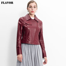 women jacket new autumn genuine leather jacket lambskin motorcycle coat women Leisure jacket(China)