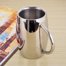16OZ Double Walled Stainless Steel Mug insulated tumbler Coffee Mug Beer Cup Drinkware Free shipping(China)