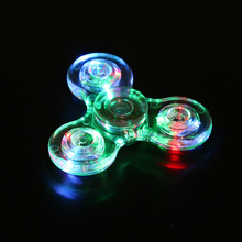 Light Fidget Spinner LED Finger Plastic EDC Hand Spinner for Autism and ADHD Relief Focus Anxiety Stress Spiner Toys Clear
