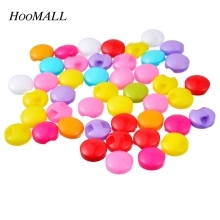 Hoomall Brand 100PCs Mixed Color 9mm Resin Buttons Scrapbooking Shank Buttons For Clothes Jeans Sewing Accessories