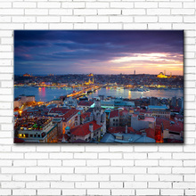 Turkey Istanbul city landscape canvas printings oil painting printed on canvas home wall art decoration pictures