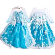 Girl Princess Dress Costume snow queen Cosplay Dress children clothing baby Kids dresses fantasia infantis Elsa dress vestido