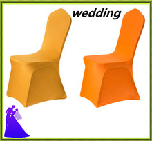 Wholesale cheap spandex chair cover factory for plastic chairs white color free shipping