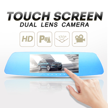 7 Inch 1080P Car DVR Dual Lens Touch Screen Rearview Mirror Video Recorder Dash Cam Parking Monitor G sensor Night Vision H71(China)