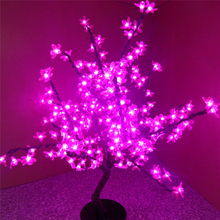 2015 LED Cherry Tree Light Pink LED 2.2m 1248 LED Cherry Flowers LED Christmas Tree Light Free Shipping(China)