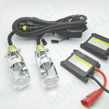 Super brightness and high quality H4 Hi low beam kit xenon kit bi-xenon kit lamps h4-3 with Projector lens(China)
