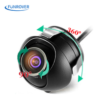 Waterproof Mini Wide Angle 360 HD CCD Normal Image Car Rear View Camera With Mirror Image Convert Line Backup Reverse Camera(China)