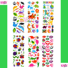 6 Sheets Scrapbooking Kawaii Insect Animals Emoji Teachers Reward Kids Children Toys Bubble Puffy Stickers Factory Direct Sales(China)