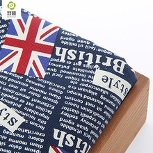 Upholstery Cotton Canvas Fabric For Sewing Hometextile DIY Handmade For Curtain Cushion Bag Shoes English Alphabet50x150cmB1-1-1(Hong Kong)