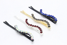 1pc Fashion Rhinestone  S Shape  Barrette Vintage Hair Pins Girls Hair Clip Bridal  Crystal BP-Bobby Accessories 1209-5