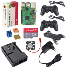 UK Raspberry Pi 3 Model B Game Kit + 2 Game Controller +32G SD Card + Case + 3A Switch Power Supply +Heat Sink + HDMI Cable(China)