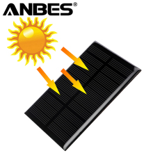 ANBES 5V 1.25W Monocrystalline Silicon Epoxy Solar Panels Module kits Mini Solar Cells For Charging Cellphone Battery 110x69mm(China)