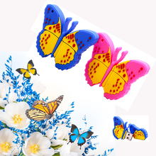 Butterfly 64 GB PenDrive USB Flash Drive 4GB 8GB 16GB 32GB USB Disk Pen Drive Memory Disk Cute 128GB flower stick key