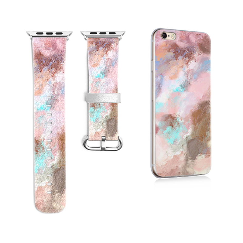 New Original Colorful Style Band for Apple Watch Series 1 2 3 Band 38mm 42mm Leather Strap for Iwatch Band Gift for IPhone Case<br>