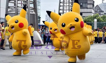 Pokemon Pikachu Mascot Costume carnival anime pokemon movie character Classic cartoon Adult Character Fancy Dress Cartoon Suit