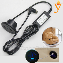 Blue light Sofa Electric Switch with USB used on recliner or rocking chair sofa C09-1(China)