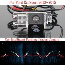 Car Intelligent Parking Tracks Camera FOR Ford EcoSport 2013~2015 / HD Back up Reverse Camera / Rear View Camera(China)