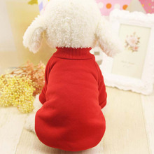 4 Colors Solid Pet Dog Clothes Winter Small Dog Coat Soft Warm Puppy Sweatshirt For Yorkies Chihuahua Teddy
