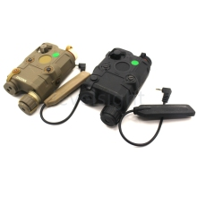 AN/PEQ-15 LED White Light+Green laser sight with IR Lens for 20mm picatinny rail mounts Tactical hunting(China)