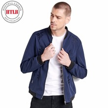 HTLB 2017 New Bomber Jacket Men Coat Brand Solid Fashion Air Force 1 Uniform Outerwear Casul Slim Fit Baseball Jackets Coat Male(China)