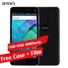 Big Battery 4000mAh Smartphone Original IPRO More 5.0 Unlocked Cellular Phone 5.0 inch 1GB RAM 8GB ROM Quad Core Mobile phone(China)