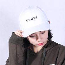 Fashion Cap Women Men Summer Spring Cotton Youth Caps Women Letter Solid Adult baseball Cap Black White Hat Snapback Women Cap