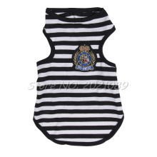 Cute Summer Pets Vest 2017 New Brand Small Dog Puppy Clothes Stripes Tank Vest t shirt apparel black red yellow pink wholesale