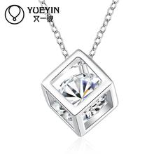 HOT SELL Silver plated Necklace pendant for women charm link chain wedding jewelry silver-plating unisex Necklace for men