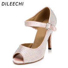DILEECHI The new hot diamond women in the high - heeled adult shoes Latin dance shoes Square dance shoes modern dance shoes