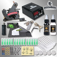 Professional Tattoo Kit With Lining Machine Inks Power Free Gift Tattoo Supplies