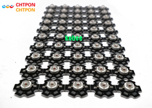 100pcs 660nm 3W  EPILEDS Chip Deep Red LED Beads Diodes Plant Grow LED Grow Light Part with 20mm star pcb
