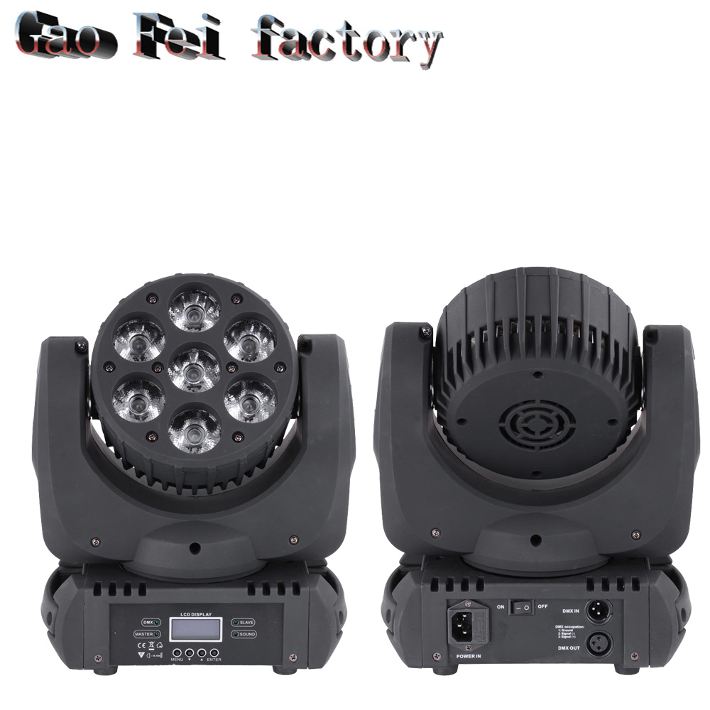8w 48leds seven color sun pattern plastic stage lamp ac 90 240v - 2pcs Lot 4in1 Cree Led Beam Moving Head Light Flower Effect 7 Color To
