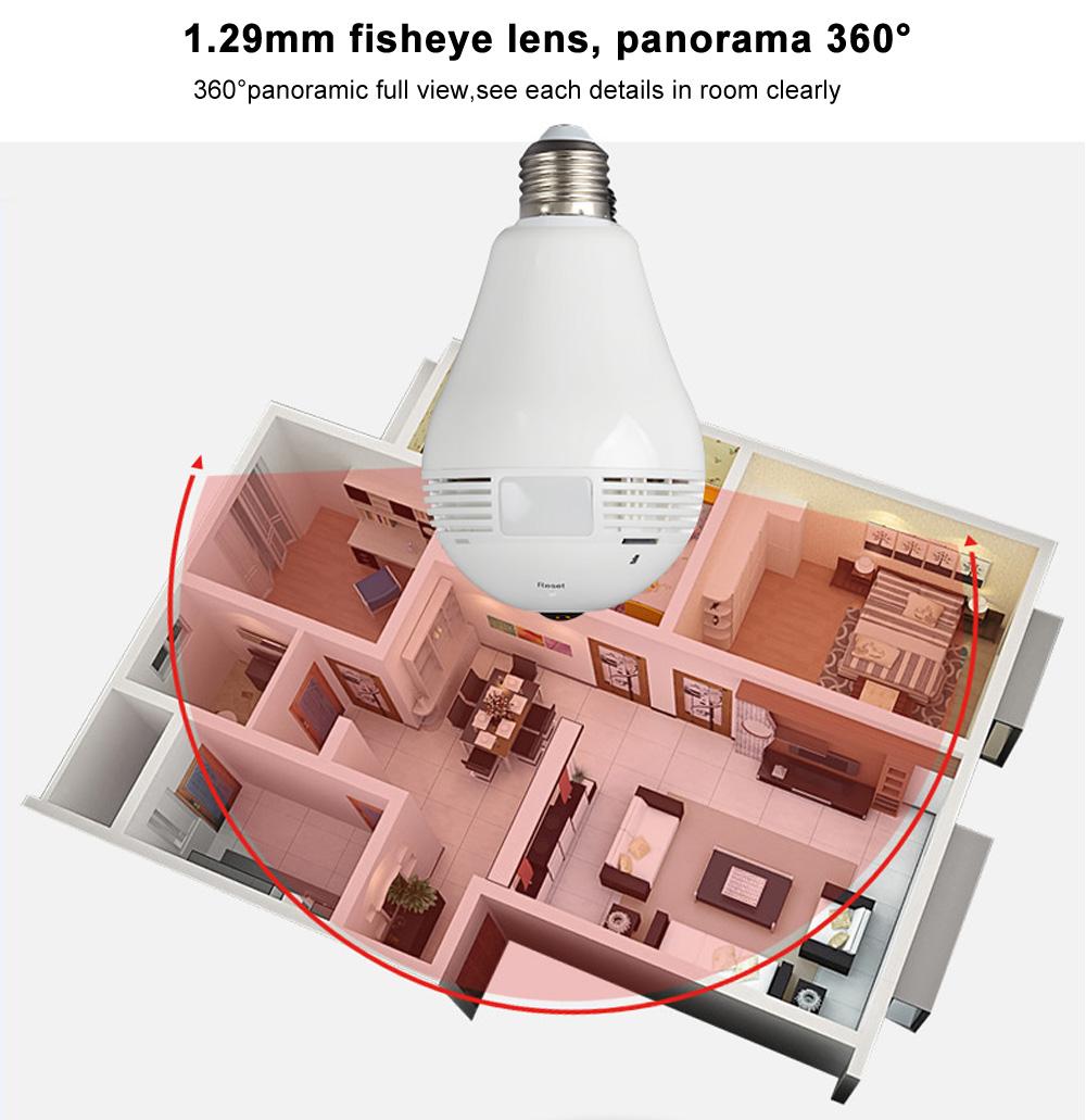 Audio Surveillance Bulb 960P 4
