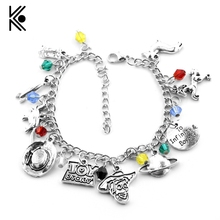Westworld Logo Crystal Beads to Infinity & Boyond Alloy Pendent Charm Bracelets HBO TV Series Gift For Woman Fans Free Shipping