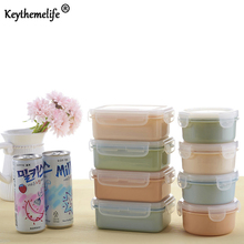 Keythemelife 1Pcs Food Container Kitchen Food Preservation Box Microwave Refrigerator Organizer Plastic PP Storage Box DA(China)