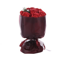 Charming Soap Rose Flowers Bouquets Romantic Valentine's Day Gift Healthy Fragrance Soap Fake Flowers for Girlfriend Home Decor(China)