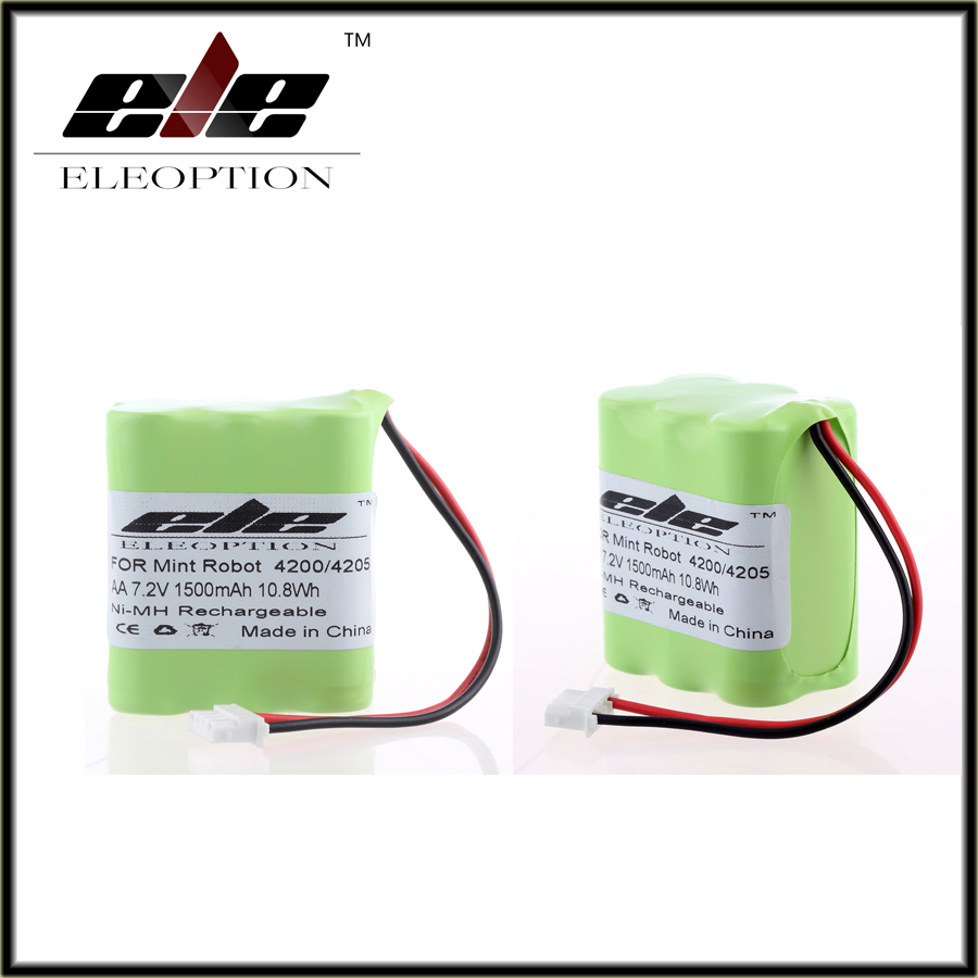 2 pcs Eleoption 1500mAh 7.2V Ni-MH Vacuum Floor Cleaner Rechargeable Battery for Mint 4200 Mint 4205(China (Mainland))