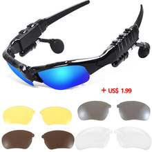 Bluetooth Glasses Headphones Stereo Wireless Sport Riding Sunglasses Song Call MP3 Ear Buds Earphone for xiomi xiami Sony