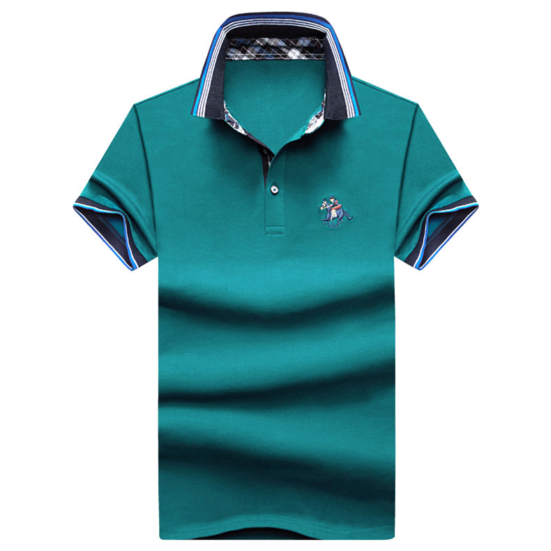 9Color Horse men quality cotton summer brand short golf riding man s male clothing 4XL large size Muls 2017 new arrival-08