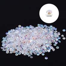1000pc/bag 4mm Crystal  Flatback Resin AB Rhinestones For Nail Art Cell Phone Decoration Brand