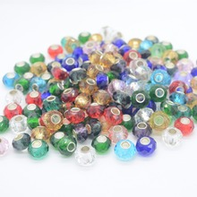 Buy High 50pcs mixed Murano glass beads European charm bead Fit Pandora Charms Bracelets Women Fashion Bead js1142 for $6.49 in AliExpress store