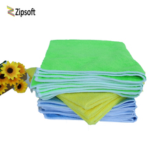 Zipsoft 40*40cm Kitchen Towel 2017 Face Towels Blue Yellow Microfiber Hand Towels cleaning rags Kitchen Dish Cloth Free Shipping