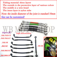 Customized Motorcycle Dirt Bike Braided Steel Hydraulic Reinforce Brake line Clutch Oil Hose Tube 400mm To 2200mm Fit Racing(China)